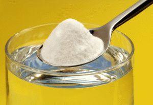Пищевая сода и вода