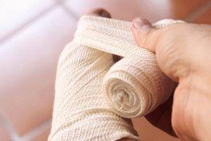 Перевязка ноги с пальцами