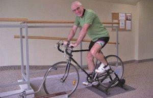 Занятия на велотренажёре