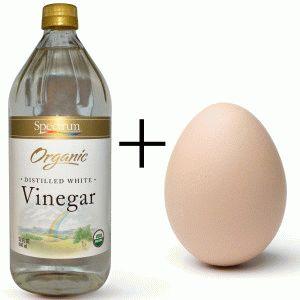 Уксус и яйцо