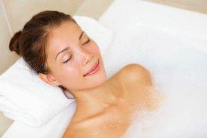 Приём солевой ванны