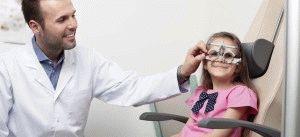 Проверка зрению у ребёнка