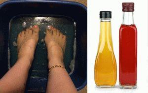 Ванна с яблочным и винным уксусом