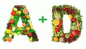 Больше витаминов А и Д
