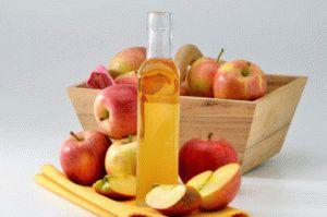 Используйте яблочный уксус