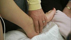 Осмотр ног у беременной