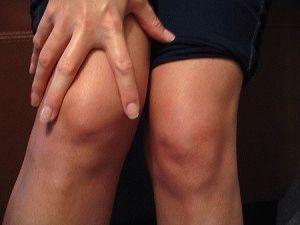 Отёчность колена при бурсите