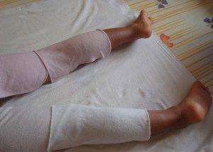 Компресс для ног с кремом