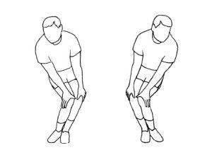 Вращения коленями