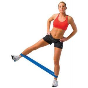 Упражнение с резиновой лентой