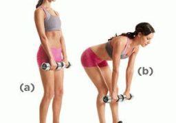 Упражнения с гантелями для ног