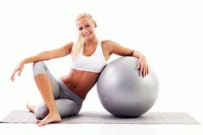 Упражнения с фитболом для пресса, ягодиц и бёдер