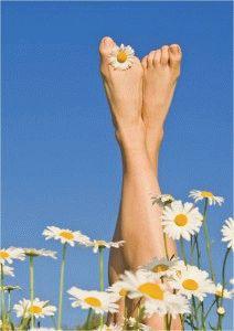 Воздействие природы на здоровье ног