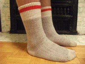 Используйте шерстяные носочки