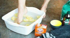 Ванна для ног с содой