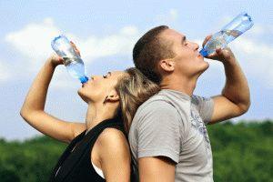 Пьёте много воды