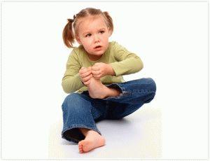 Боль в стопах ребёнка