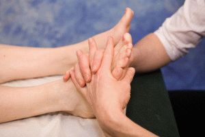 Обработка ступней