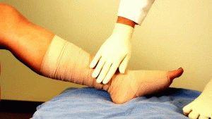 Уход за ранами ног