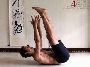 Подъём ног с тазом из положения лёжа