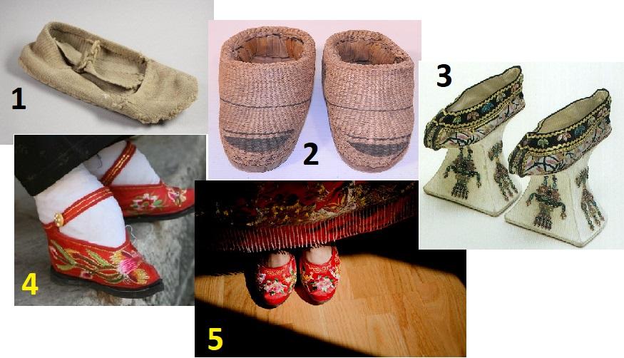 Китайская обувь разного времени