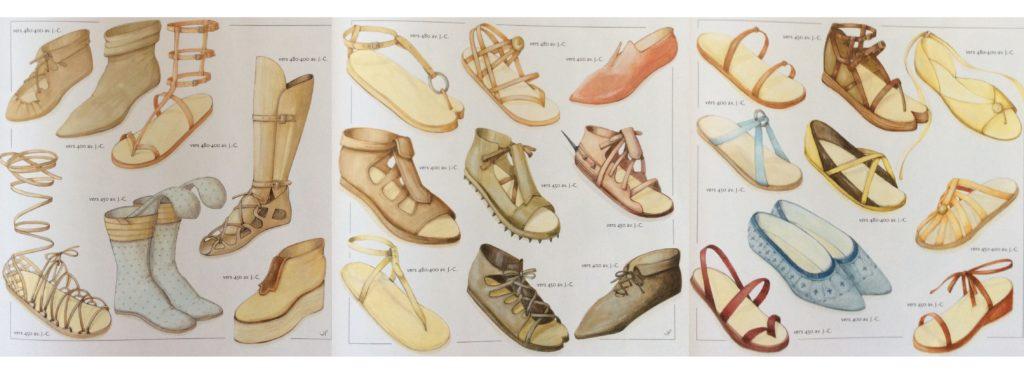 Рисунки обуви древних греков